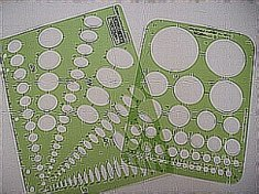circle and oval drawing templates