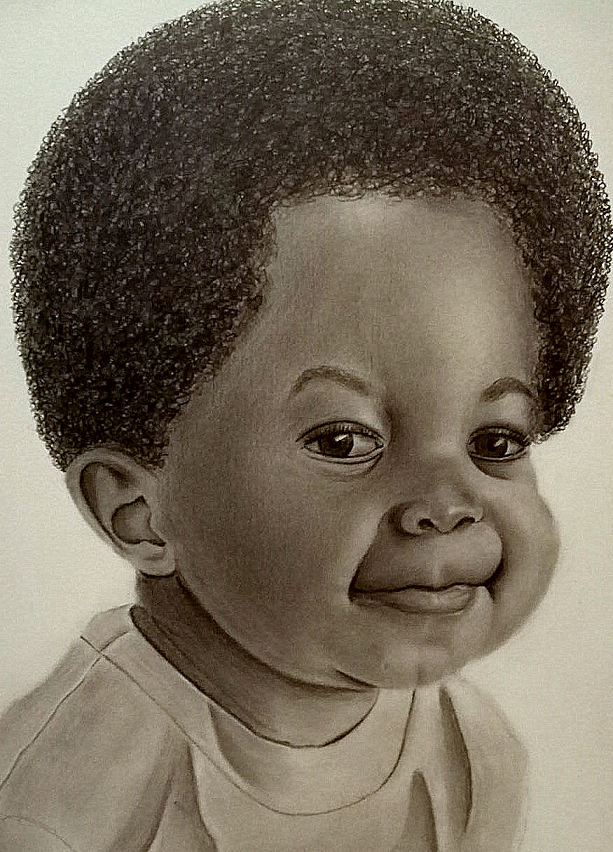 This is a portrait of a young boy.