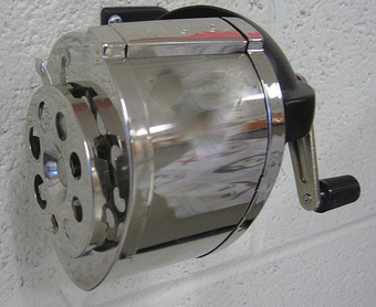wall mounter crank-style pencil sharpener