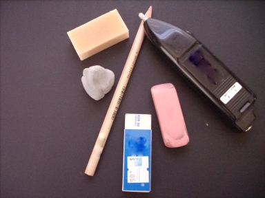 Different Types Of Erasers Are Used By Artists To Achieve