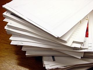 used printer paper