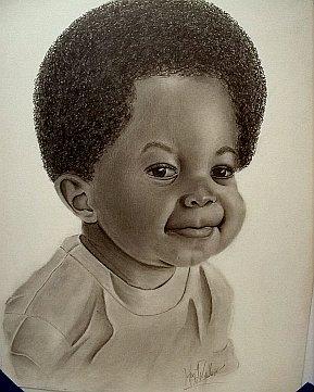 A portrait of a young boy.