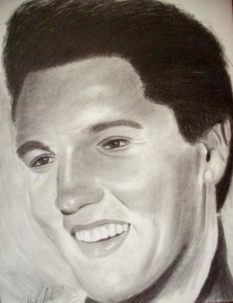 Pencil Drawing of Elvis