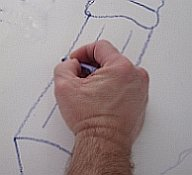 move your crayon as your finger follows the lines