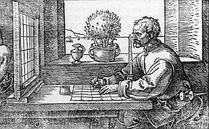 artist using a grid